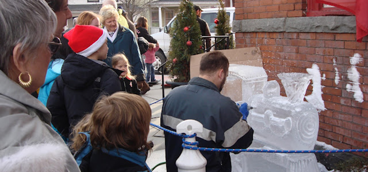 Hawley Winterfest Ice Carving